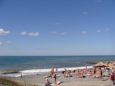 На пляже Адлера